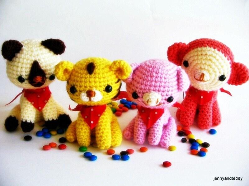 pdf amigurumi crochet pattern animal
