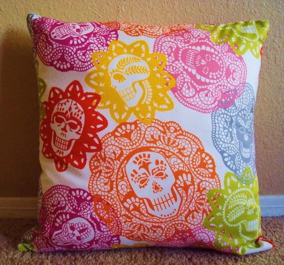 Papel Picado Throw Pillow Cover