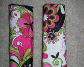 Infant car seat strap covers - reversible (Not too Shabby)