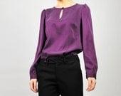 Glamourous purple silk blouse- Style 29