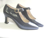 Vintage Navy Mary Jane Pumps Shoes by Proxy 6