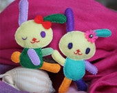 Cute Bunny Family-- No 1 Brooch