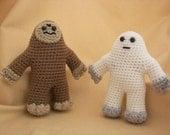 Yeti and Bigfoot Crochet Amigurumi Pattern