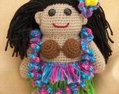 Builda Buddy Hula Dancer Crochet Amigurumi Pattern
