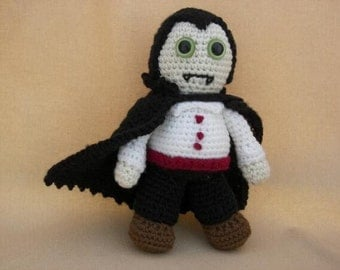 Dracula Crochet Amigurumi Monster Pattern