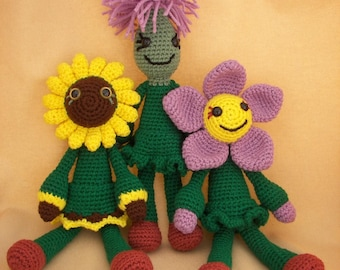 Weed in My Garden Trio Crochet Amigurumi Pattern Set