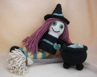 Melinda the Magical Witch Crochet Amigurumi Pattern