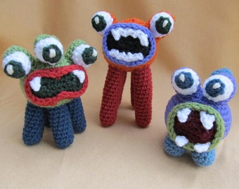 Big Mouth Monsters Crochet Amigurumi Pattern