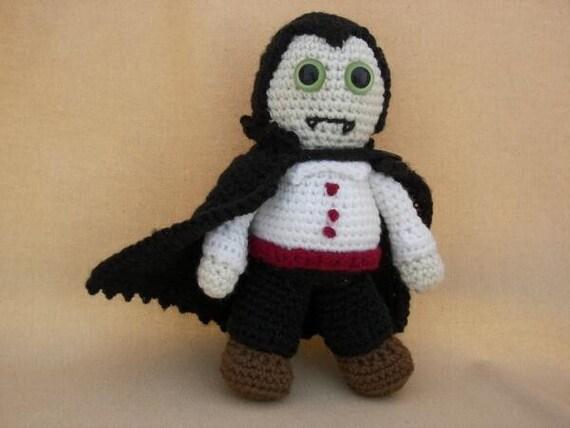 Dracula Crochet Amigurumi Monster Pattern