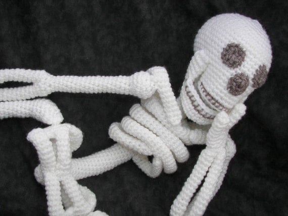 Realistic Bona Fide Skeleton Crochet Amigurumi Pattern