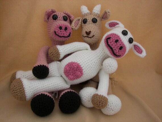 Barnyard Buddies Critter Collection Amigurumi Crochet Pattern Set