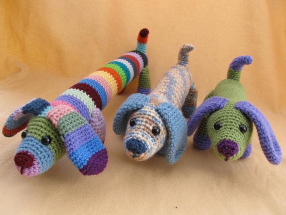 Crochet Patterns Dog : Fetch the Dog Crochet Amigurumi Pattern