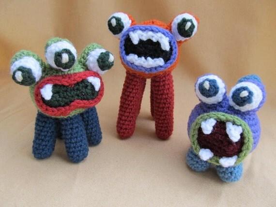 Big Mouth Monsters Crochet Amigurumi Pattern