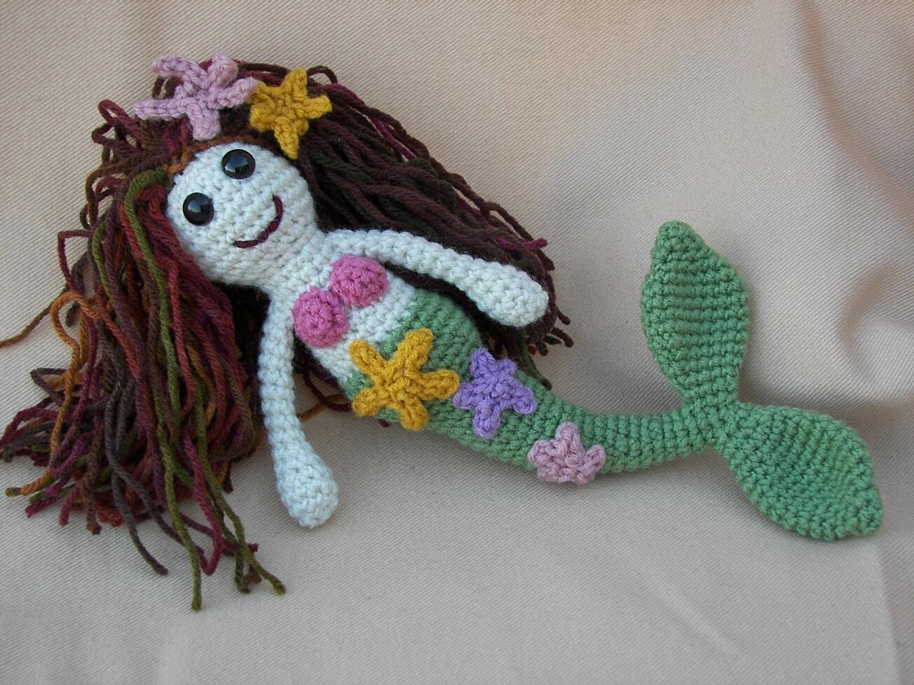 Amigurumi Mermaid Pattern : Myra Mermaid Crochet Amigurumi Pattern by CraftyDebDesigns ...