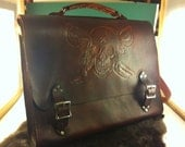 Leather Pirate Messenger Bag - XtreamLeatherworks