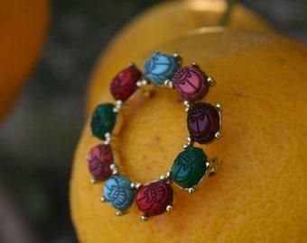 Multi Colored Beetle Brooch