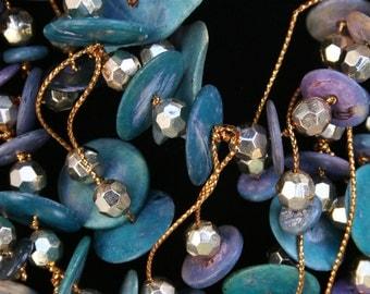 1980s Metallic & Turquoise Necklace