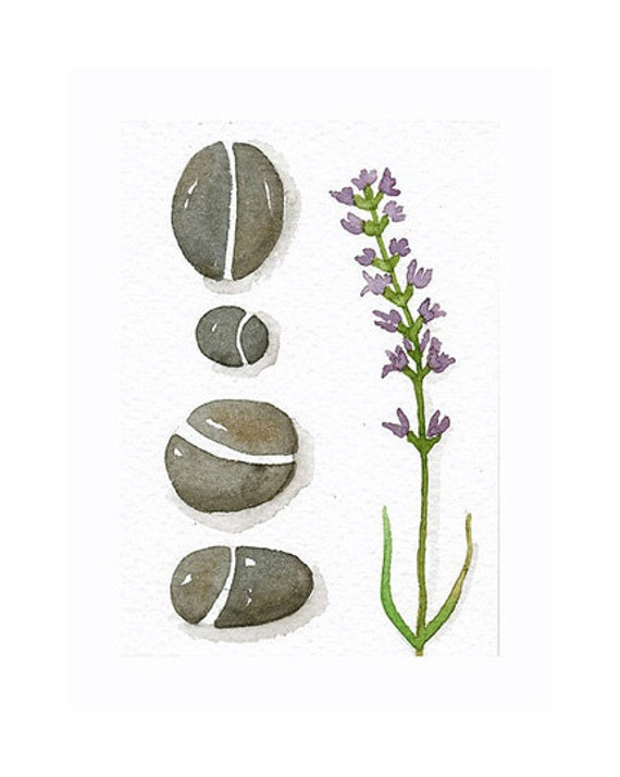 Original Watercolor ACEO Art Pebbles - Collection No. 32 - Painted by Lorisworld