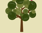 Custom Family Tree with Personalization of names - Digital File: I design, you print.