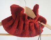 Terracotta Scarflette - Wool Scarf - Neckwarmer - europeanstreetteam