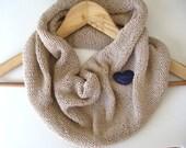 Spring Summer Fashion beige cotton cowl