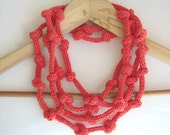 necklace - eco cotton jewels - women fashion - Yarn jewelry