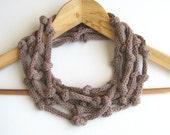 Mauve necklace - mauve taupe organic cotton necklace - Europeanstreetteam