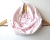 Pink scarf - Infinity scarf pale pink - Loop Summer scarf - cotton cowl - Europeanstreetteam