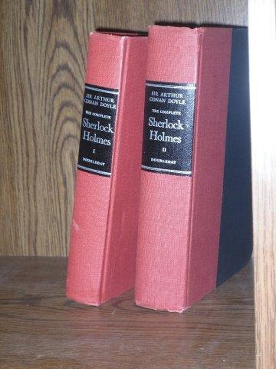 Free Shipping to US... Price reduced! Vintage Sherlock Holmes Books, Two Volume Set Collectors Item