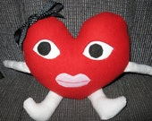 Adorable stuffed red heart for your loved one