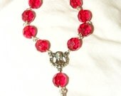 Ruby Red Single Decade Rosary