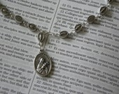 Saint Therese Chaplet with Miraculous Medal Beads