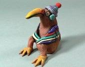 Whimsical Ceramic Bird Sculpture -  BOGY, He's No Old Fogey