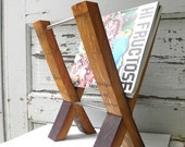 modern magazine rack. reclaimed wine barrel. french oak.