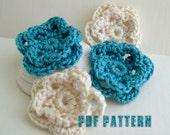 Fancy Flower PDF Pattern - easy crocheted flower pattern - Floral embellishment - Crochet Handmade - crochet flower pattern