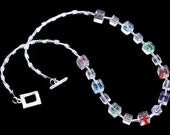 Necklace - Don't Be A Square - Glass beads