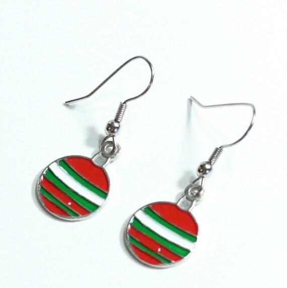 Christmas Ball Ornament Earrings - Winter Christmas