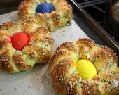 "Italian  Easter Bread   these are called ""Pupa con l'uova"" at least in Sicily."