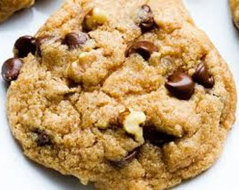 1  Dozen Big Walnut  Chocolate Chip Cookies