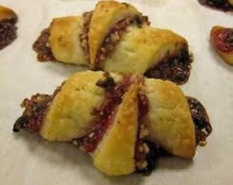 Raspberry Chocolate Rugelach