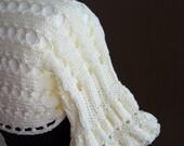 SALE ---Ivory Shrug-Bolero-Capelet---hand knitted , size S