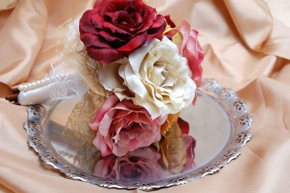 SALES NOW! The last one Bridal  Bouquet Romantic Roses