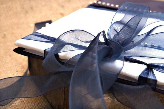 Wedding Guest Book - Blue, Romantic, Elegant Weddings