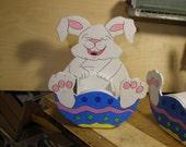 "Easter Bunny ""Giggles"", planter Box"