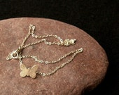 Sterling Silver Charity butterfly, elephant, frog, dragonfly, dolphin wire necklace