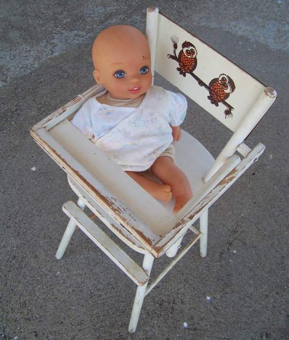 Items Similar To Vintage 1950s Era, Wooden Doll High Chair