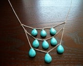 The Cleopatra- Turquoise Layered Necklace