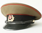 Soviet Army Sergeant military Visor Hat from Russia