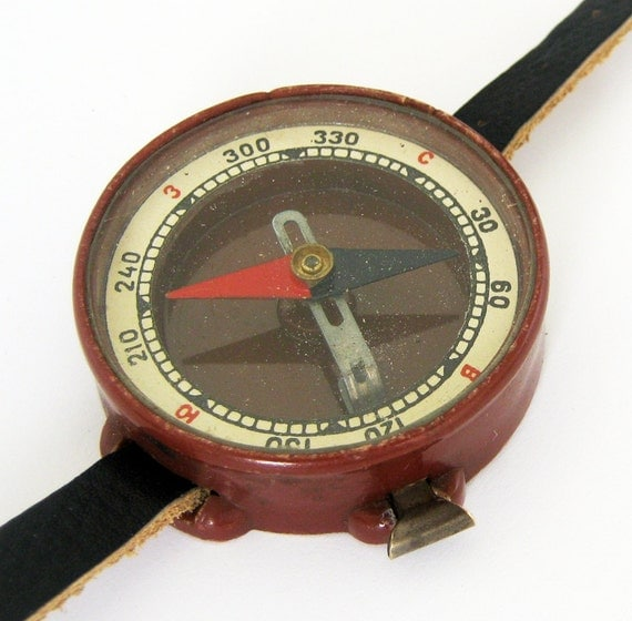 Original Soviet Russia made wrist compass complete with leather strap
