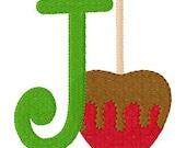 INSTANT DOWNLOAD Caramel Apple Machine Embroidery Monogram Design Set